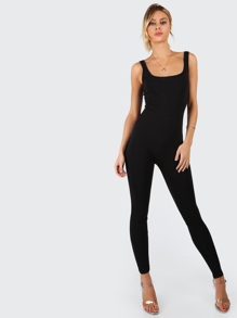 Scoop Neck Skinny Fit Tank Jumpsuit