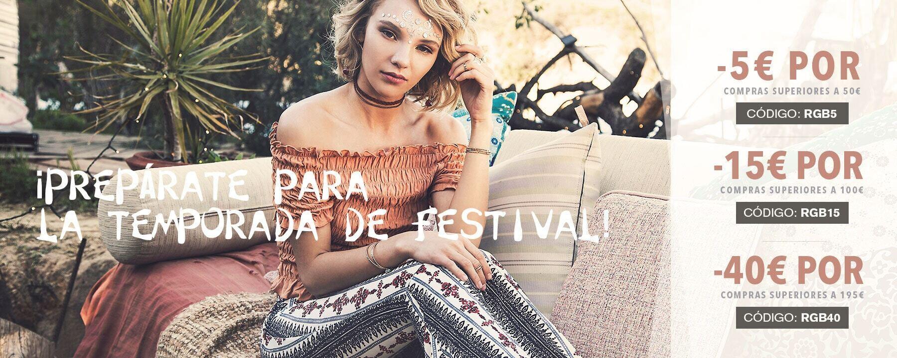 ¡Prepárate para la temporada de festival!