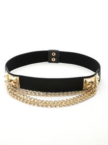 Layered Chain Detail Belt