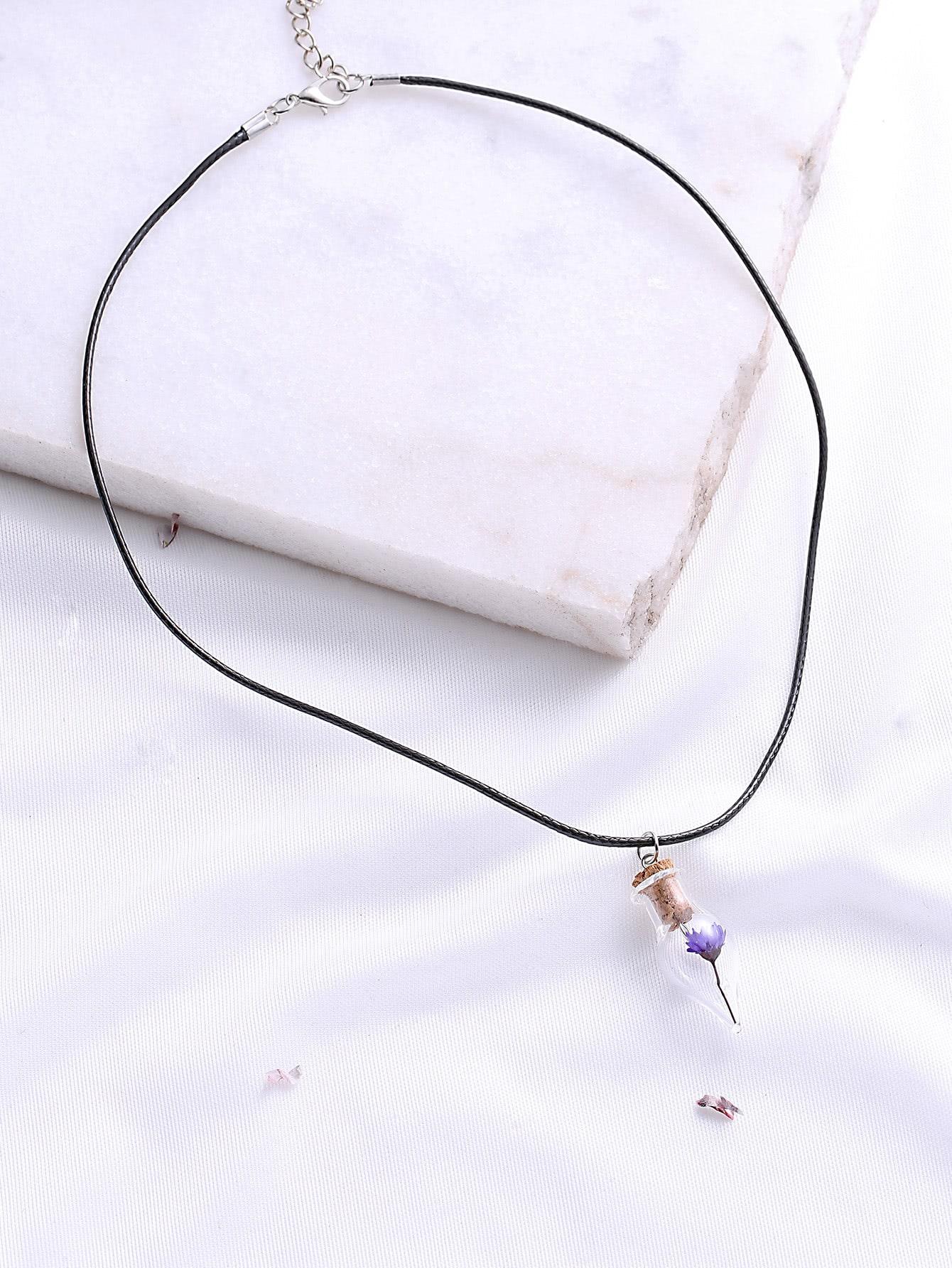Фото Purple Flower Pendant Necklace. Купить с доставкой