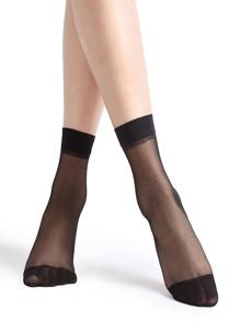 Black High Stretch Ankle Socks