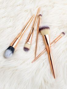 5PCS Rose Gold  Professional Makeup Brush Set
