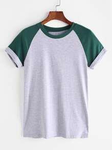 manches Raglan shirt - gris