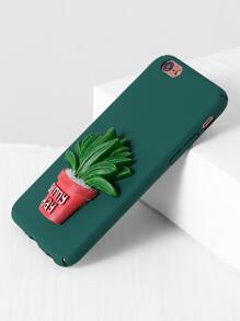 Green Pot Plant Cute iPhone 6/6s Case