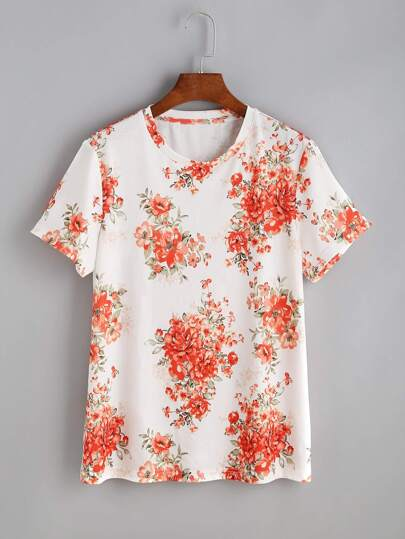 Floral Cluster Print Tee pictures