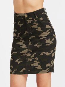 Camouflage Print Pockets Rock