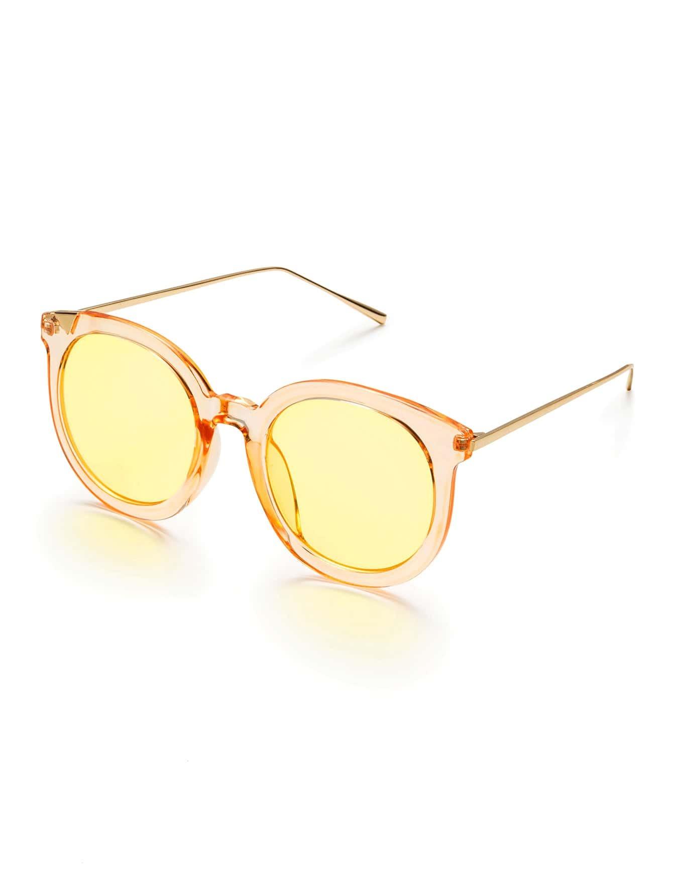 Фото Gold Frame Metal Arm Gold Lens Sunglasses. Купить с доставкой