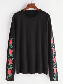 Florals Drop Shoulder T-shirt