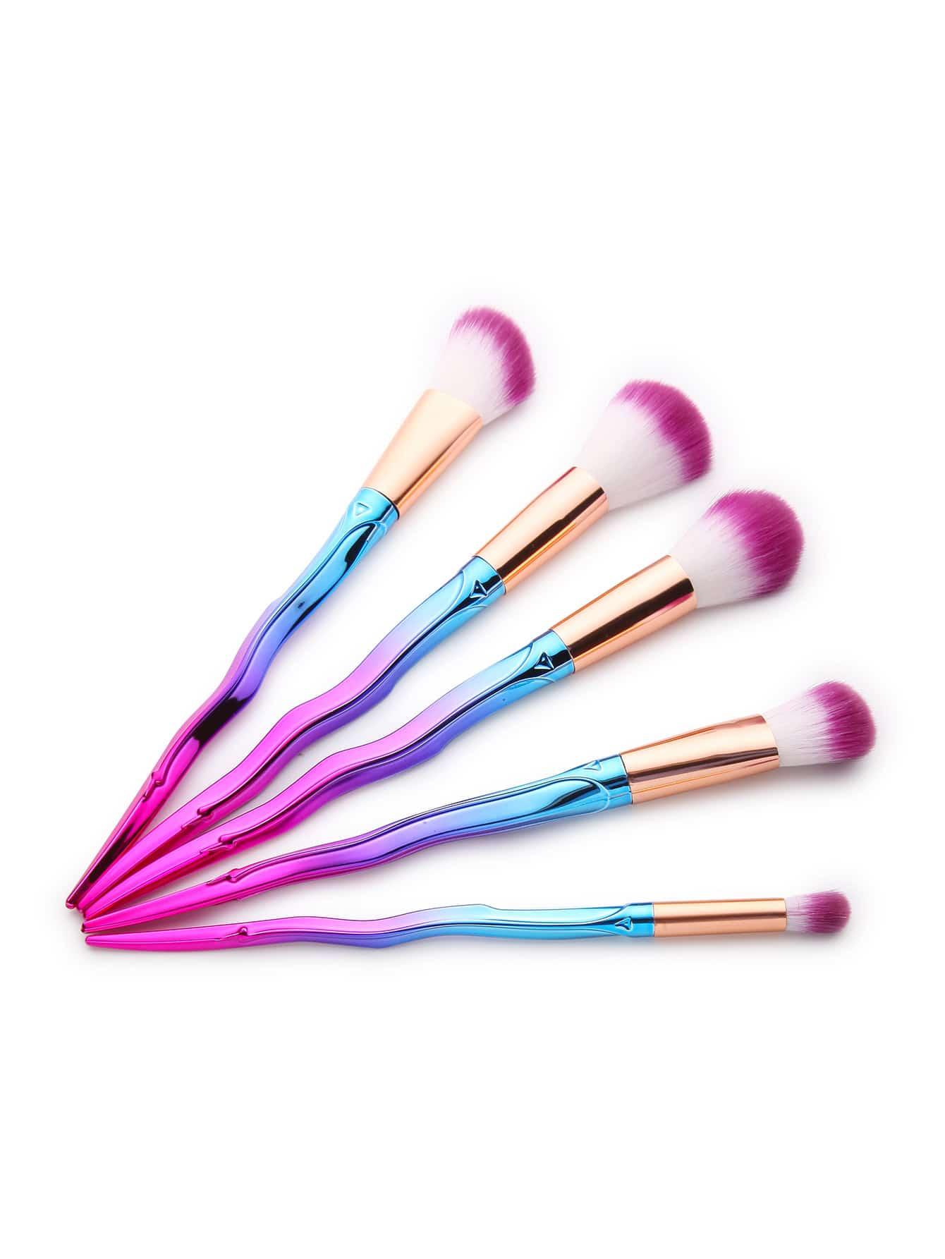 Фото Ombre Asymmetrical Handle Makeup Brush Set. Купить с доставкой