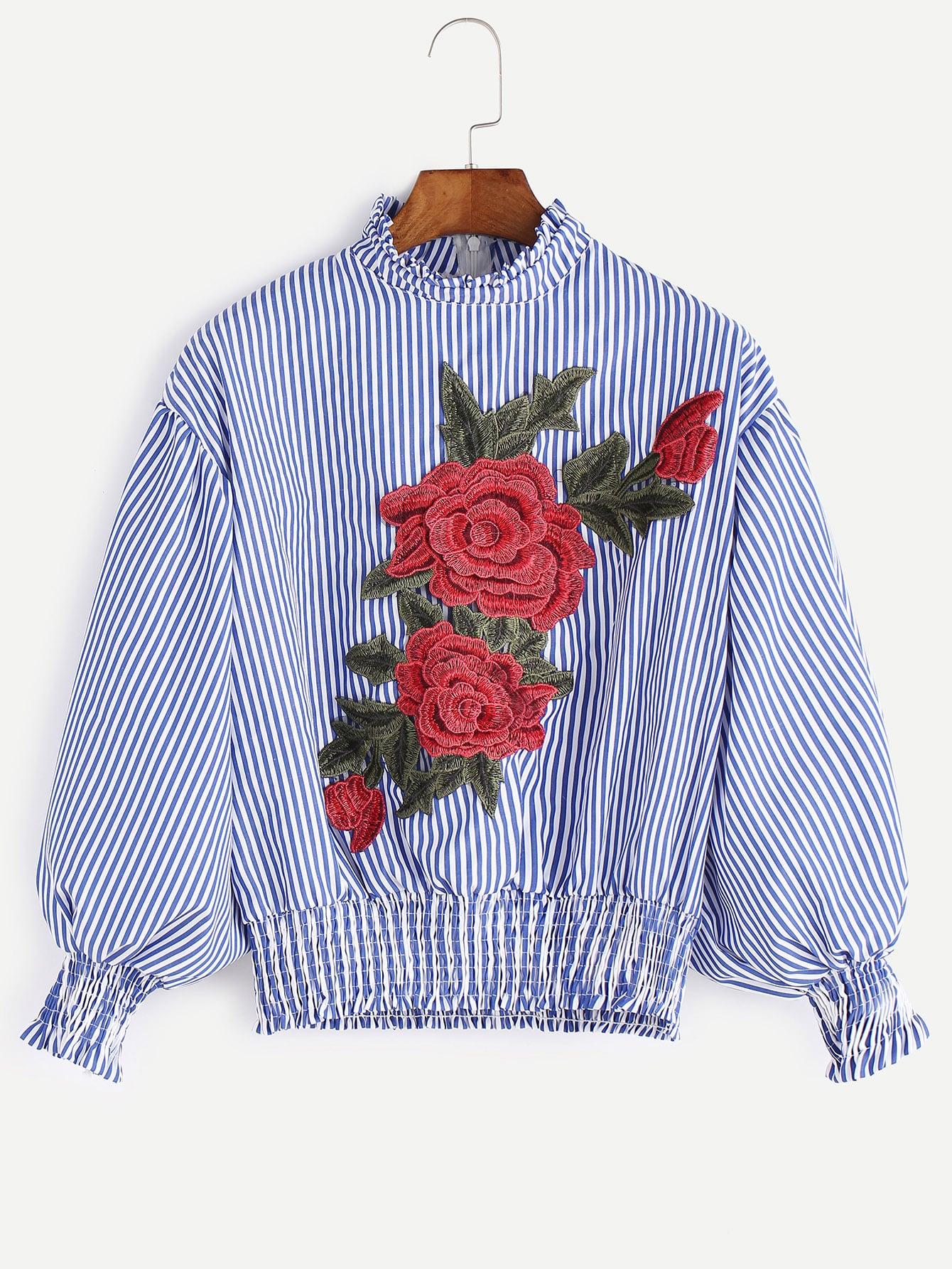 Блузки в полоску с вышивкой 75