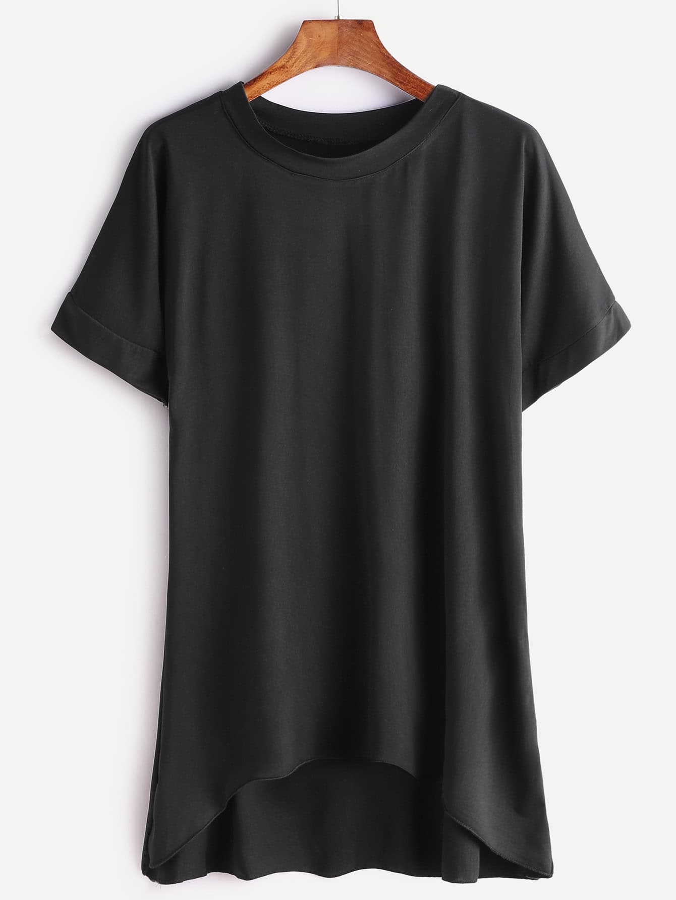 Фото Plain Dip Hem T-shirt. Купить с доставкой