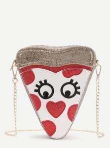 Gold Heart Shaped Cute Crossbody Bag