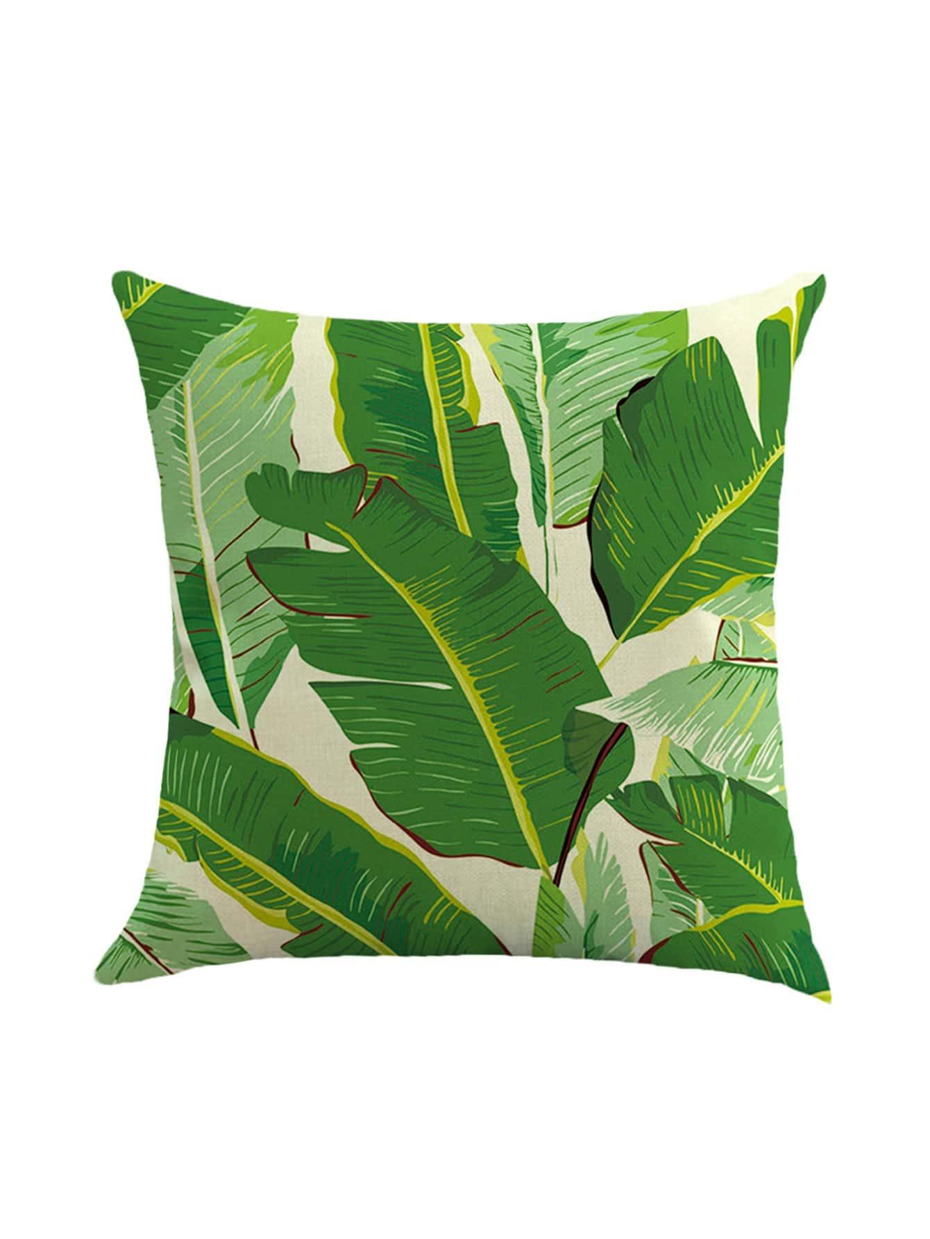 Фото Beige Leaf Print Pillowcase Cover. Купить с доставкой