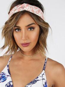 Floral Twist Headband BLUSH