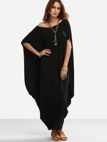 Dolman Sleeve Full Length Cocoon Dress