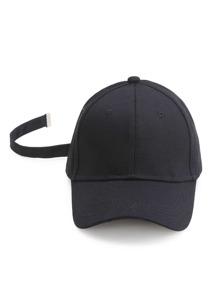 Gorra béisbol con correa - negro