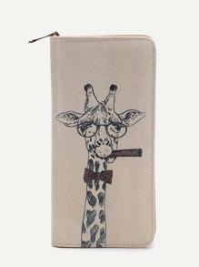 Brieftasche mit Giraffemuster