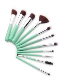 Set cepillos de maquillaje delicados - verde