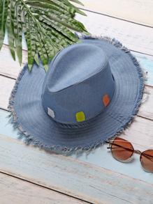 Chapeau en denim bleu