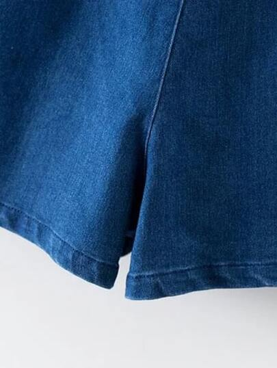 A Line Denim Shorts -SheIn(Sheinside)