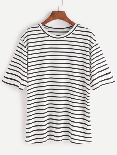 Camiseta de rayas - negro blanco