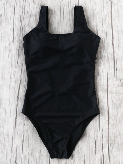 Square Neck One-Piece Swimwear