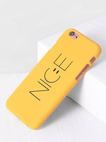 Yellow Letter Print iPhone 6/6s Case