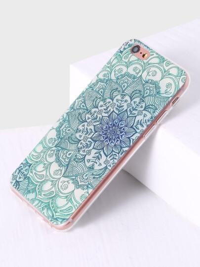Green Floral Pattern iPhone 6plus Case