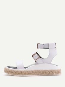 Sandales à espadrilles