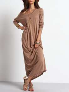 Scoop Neck Casual Maxi Dress
