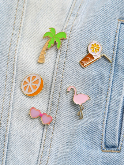Beach Style Delicate Brooch Set