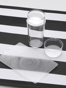 Transparent Nail Art Transfer Stamping Manicure Tool Set