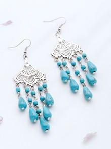 Turquoise Bead Orecchini