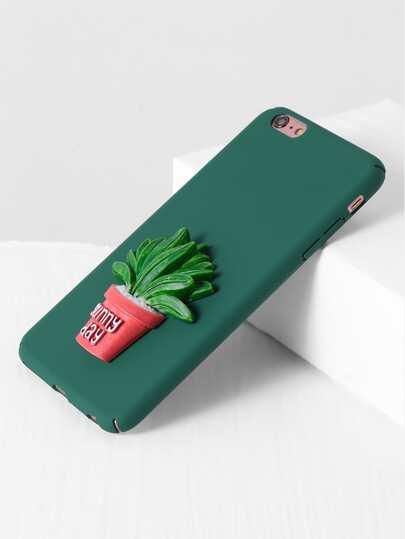 Green Pot Plant Cute iPhone 6s Plus Case
