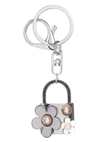 Flower Lock Design Cute Keychain
