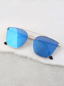 Reflective Gradient Sunglasses INDIGO MULTI