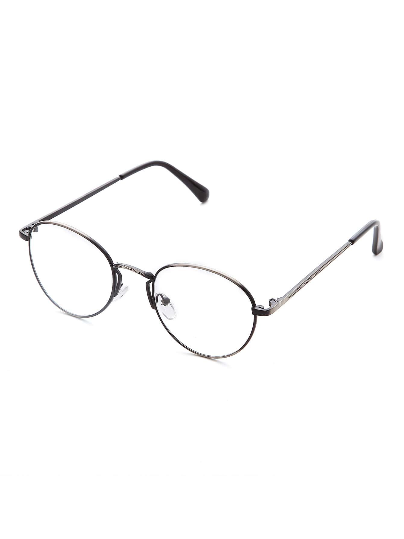 sliver frame clear objektiv retro brille german shein sheinside. Black Bedroom Furniture Sets. Home Design Ideas