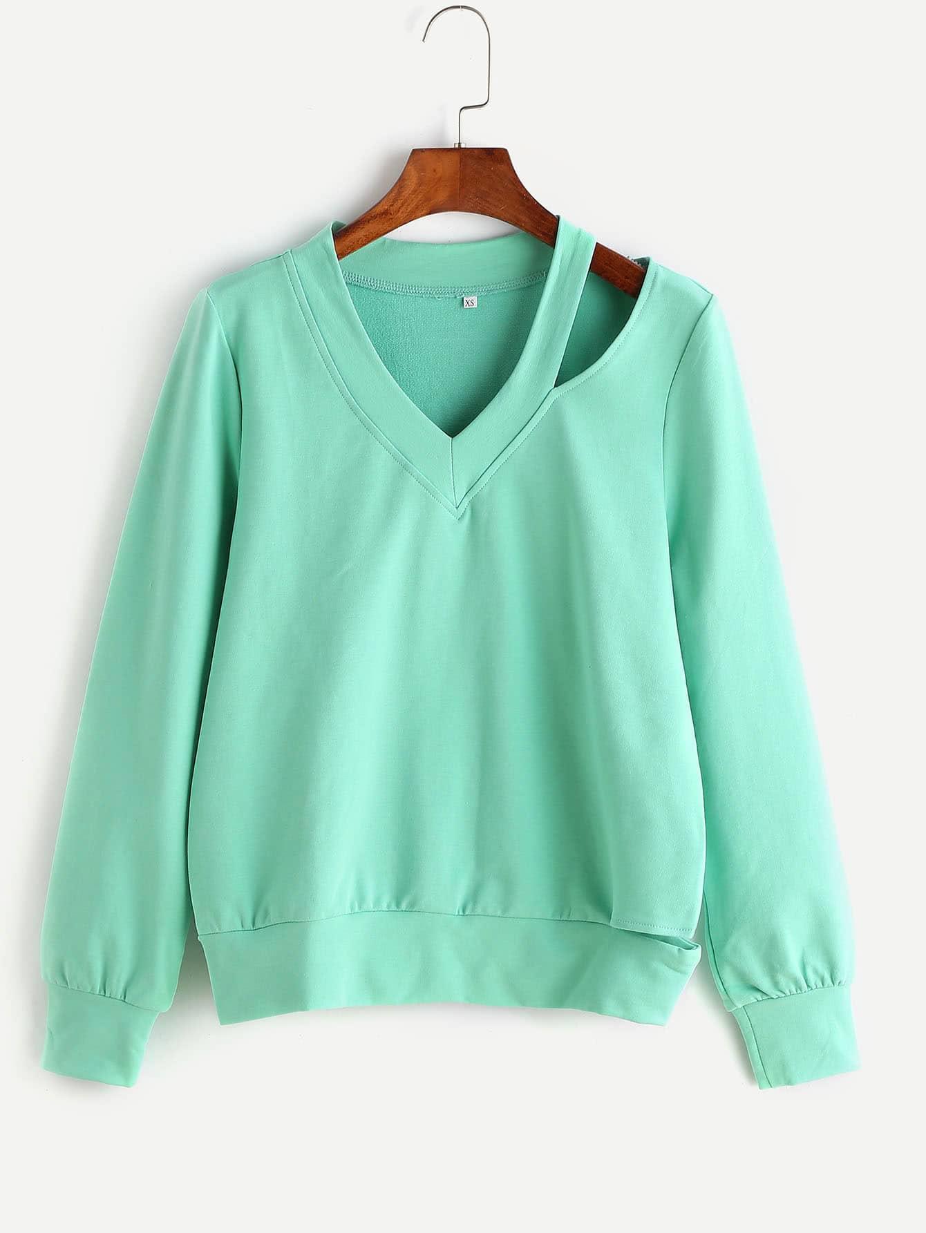 Фото Asymmetric Cutout Sweatshirt. Купить с доставкой