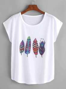 Модная футболка с графическим принтом