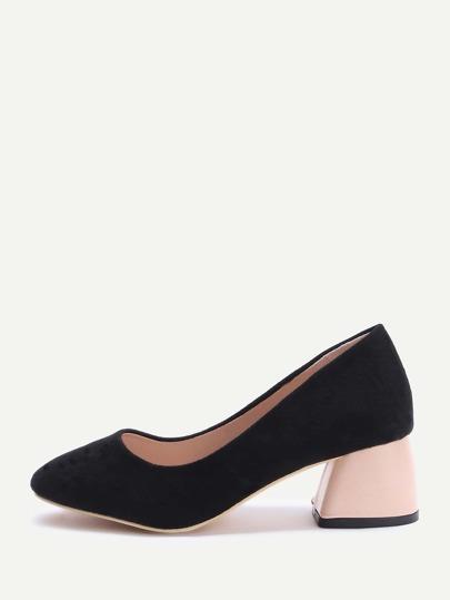 Kontrast Chunky Heels Schuhe