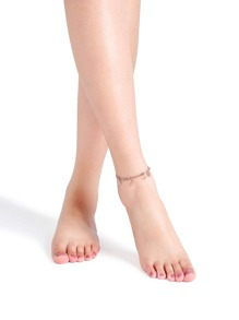Rose Gold Hollow Out Flower Shape Anklet