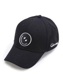 Gorra béisbol con bordado de emoji