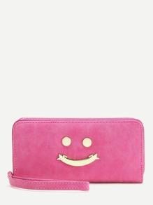 Pink Happy Smile Design Cute Wallet
