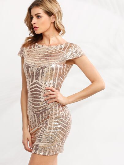 Sequined Backless Club Dress