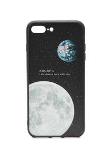 Black Moon Pattern iPhone 7 Plus Case