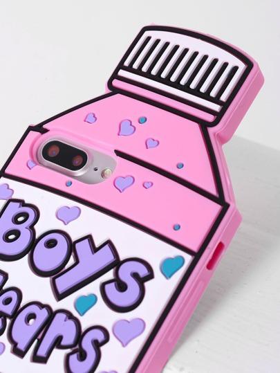 pink bottle shape iphone 7plus case shein sheinside. Black Bedroom Furniture Sets. Home Design Ideas