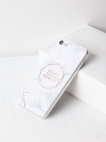 Marble Pattern With Letter Print iPhone 7 Case