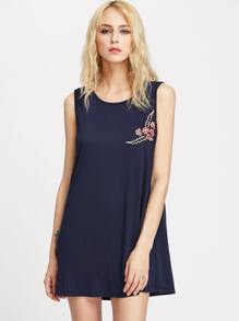 Applique Tank Dress