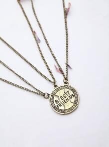 collier, chaîne lettre détaillée de l'amitié