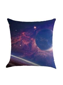 Funda de almohada con estampado de galaxia